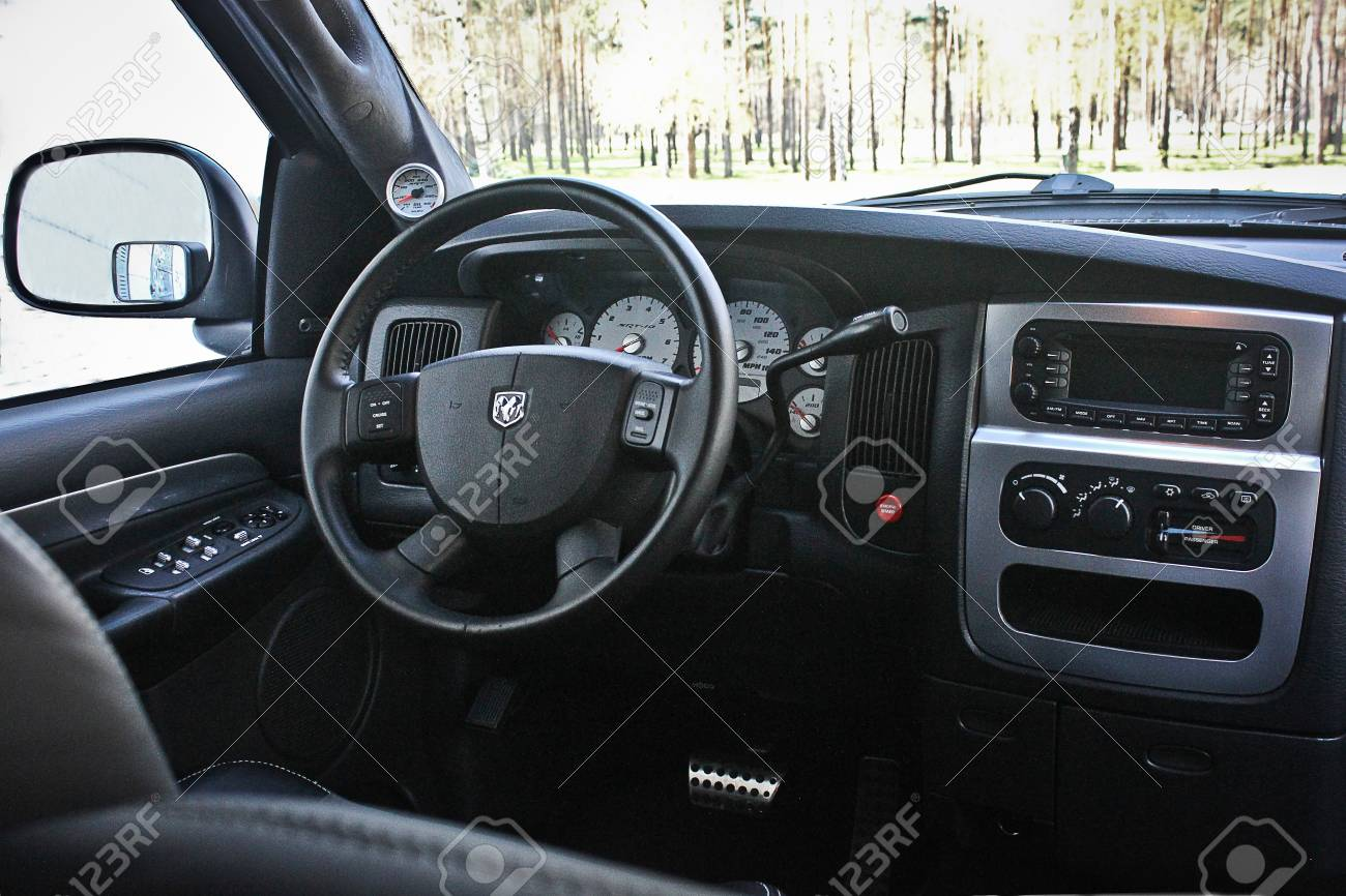 Kiev, Ukraine; April 10, 2015. Dodge Ram SRT 10. View
