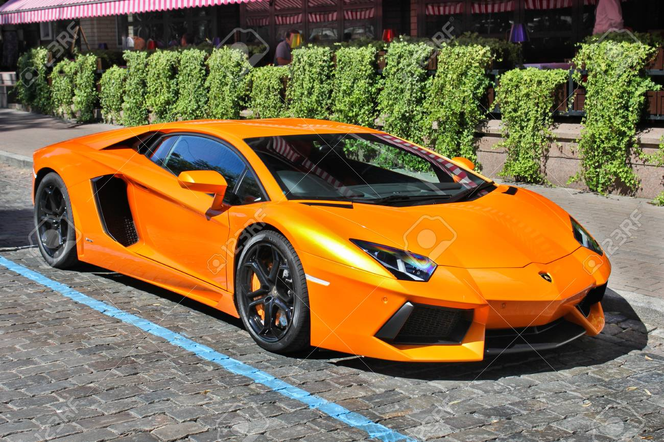 Kiev Ukraine July 1 2012 Lamborghini Aventador On The Streets Stock Photo Picture And Royalty Free Image Image 91064791