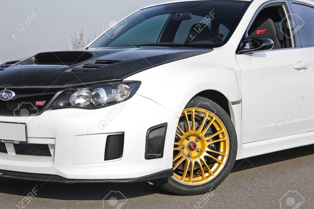 2014 Subaru Impreza Wrx Sti >> Kiev Ukraine January 20 2014 Subaru Impreza Wrx Sti Editorial