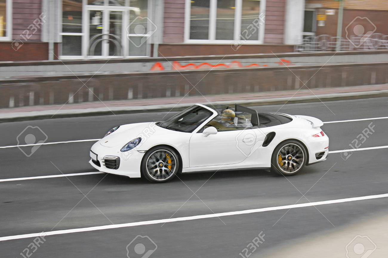 Exclusive White Convertible Porsche Porsche 911 Turbo Cabriolet Stock Photo Picture And Royalty Free Image Image 97261261