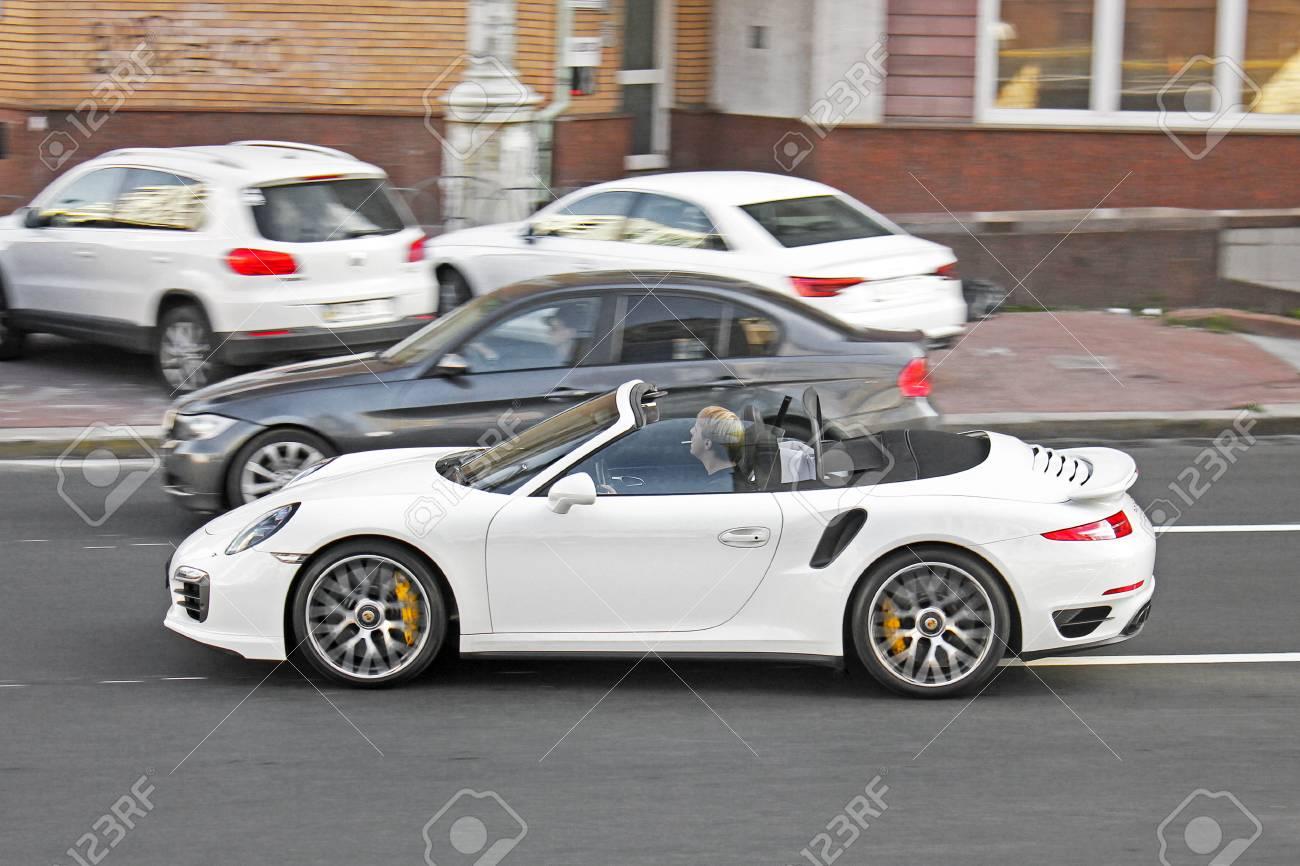 Kiev, UA , May, 2017 Porsche 911 Turbo Cabriolet; Exclusive..