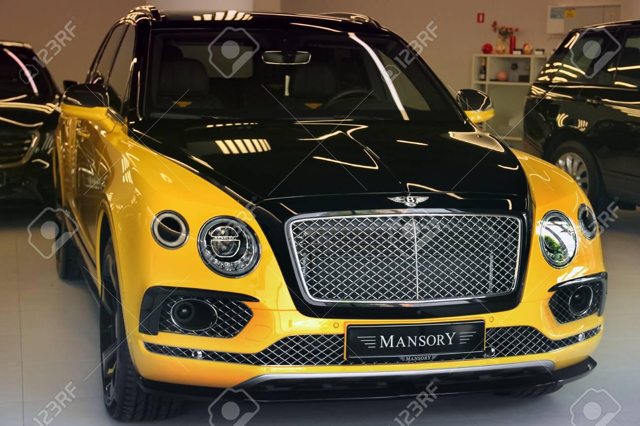 Kiev Ukraine May 3 2019 Yellow Bentley Bentayga Mansory Stock Photo Picture And Royalty Free Image Image 126384758