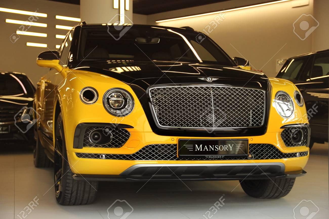 Kiev Ukraine May 3 2019 Yellow Bentley Bentayga Mansory Stock Photo Picture And Royalty Free Image Image 126384759