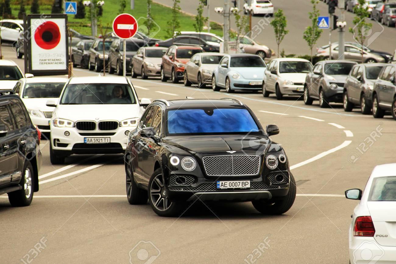 Kiev Ukraine May 3 2019 Black English Suv Bentley Bentayga Stock Photo Picture And Royalty Free Image Image 126384766