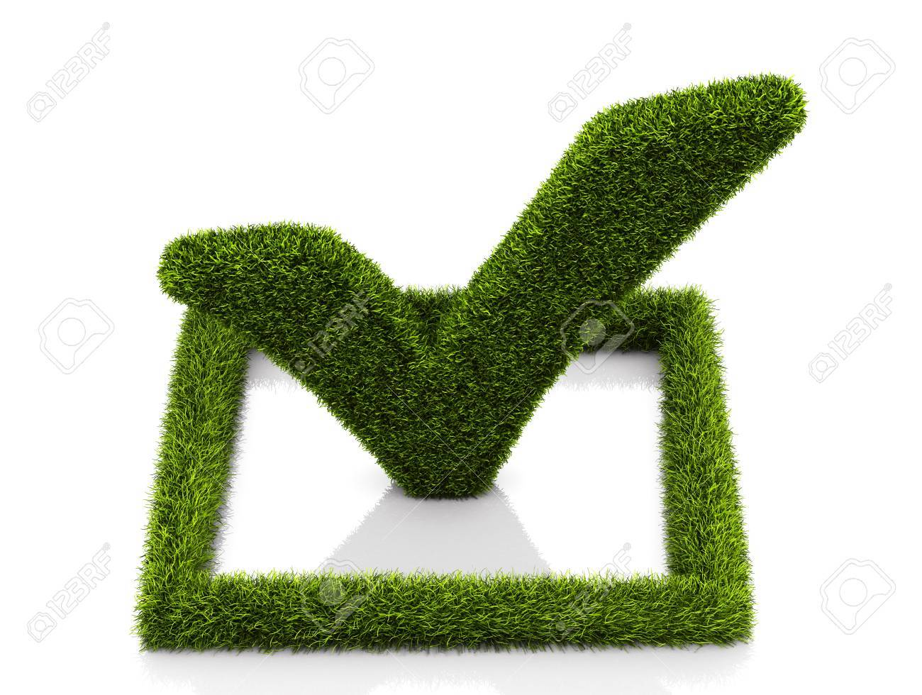 Green grassed check mark symbol in the square on white background green grassed check mark symbol in the square on white background stock photo 73120641 biocorpaavc Image collections