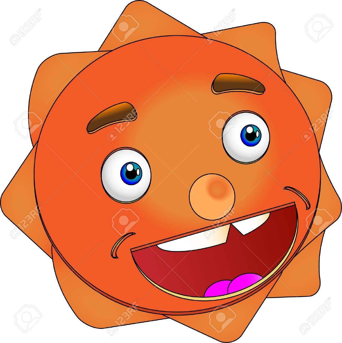 Smiling Sun Vector Illustration Stock Vector - 15897276