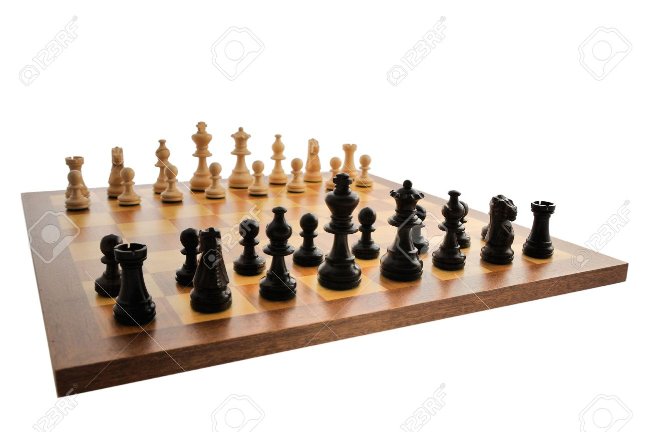 A chess board set up ready for a game Stock Photo - 3294572  sc 1 st  123RF.com & A Chess Board Set Up Ready For A Game Stock Photo Picture And ...