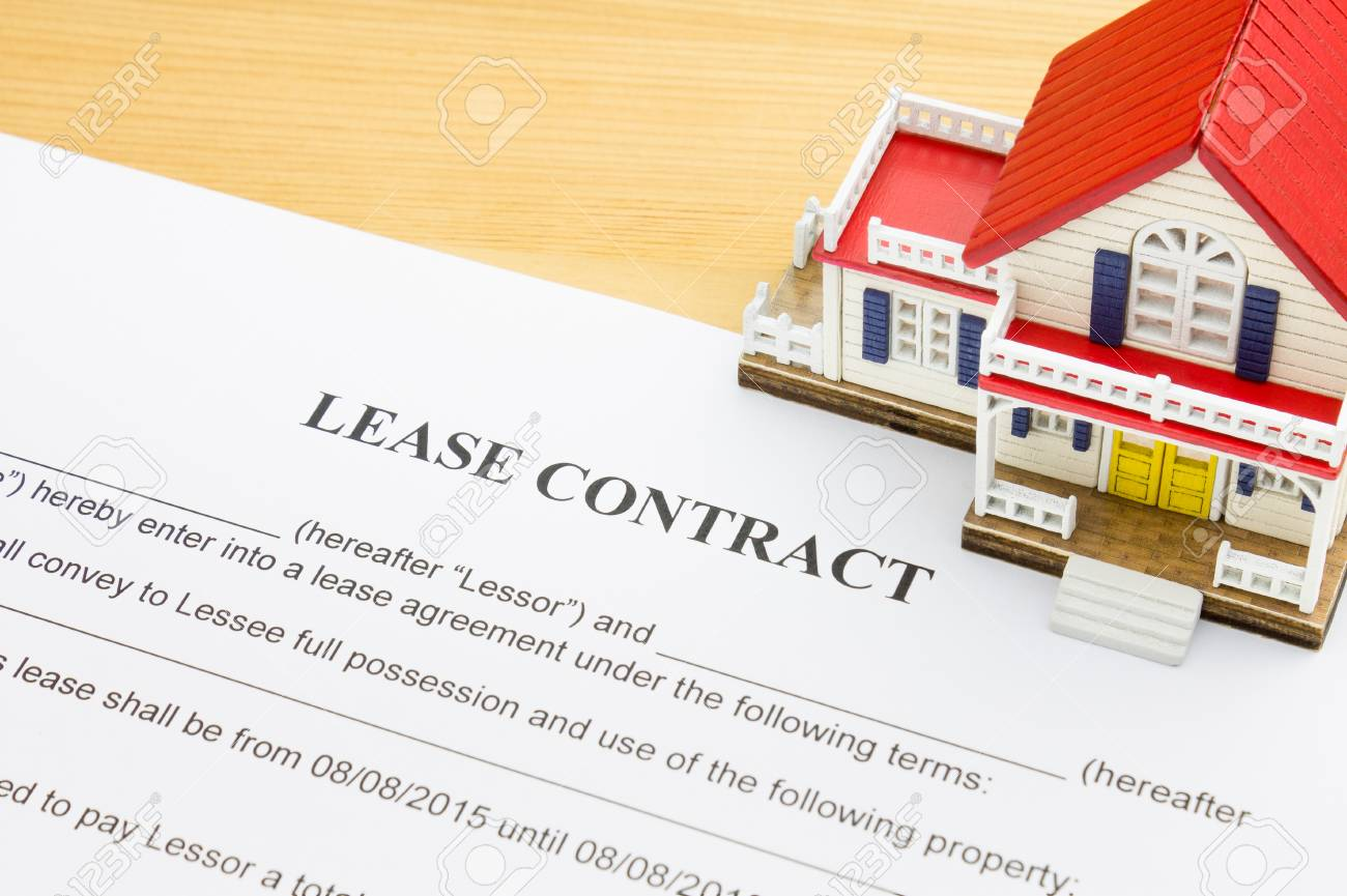 Home Lease Contract Or House Lease Contract Agreement Concept