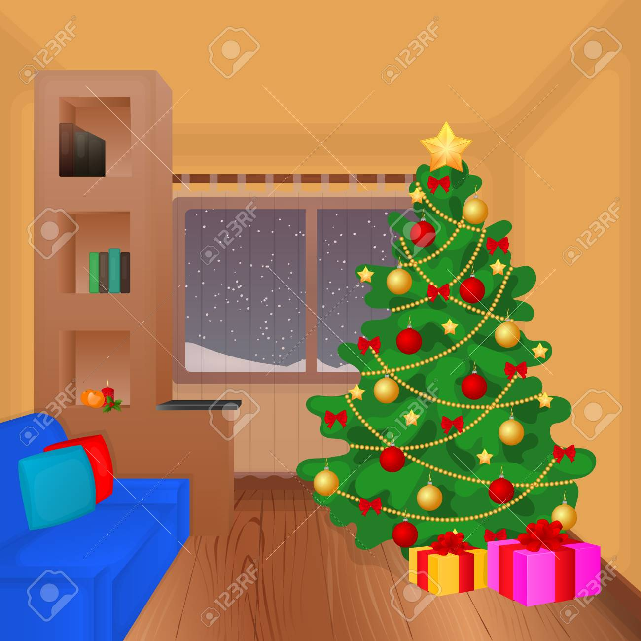 Christmas Living Room With Xmas Tree Presents Couch And Decoration Royalty Free Cliparts Vectors And Stock Illustration Image 68723812 Disney series & full length cartoons in english. christmas living room with xmas tree presents couch and decoration