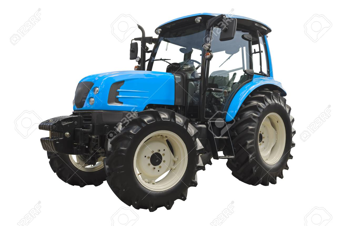 Agricultural tractor isolated on a white background - 120270017