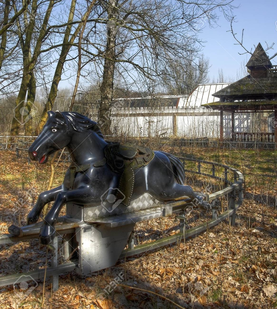 Old Abandoned Horse From A Carousel Stock Photo Picture And Royalty Free Image Image 32044419