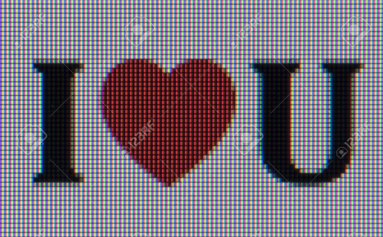 Macro shot of i heart symbol u displayed on computer screen stock macro shot of i heart symbol u displayed on computer screen stock photo 84333506 buycottarizona Choice Image