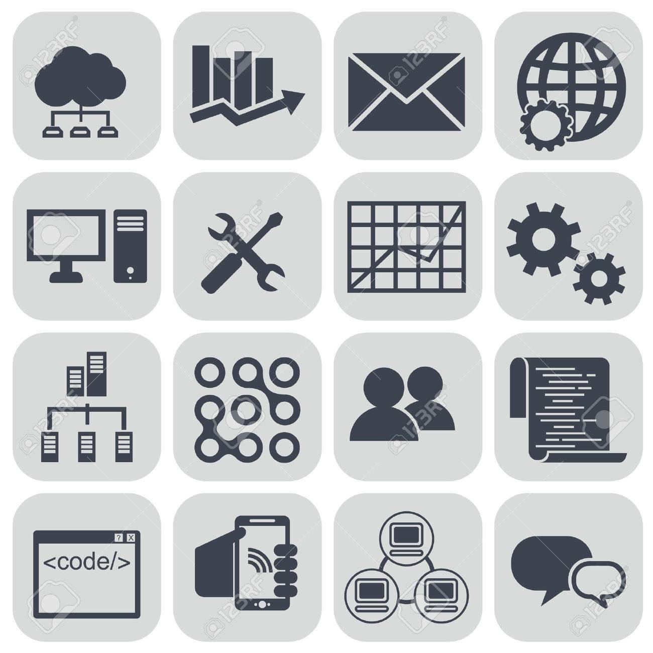 Big Data Icon Set Data Analytics Icon Set Cloud Computing Icon