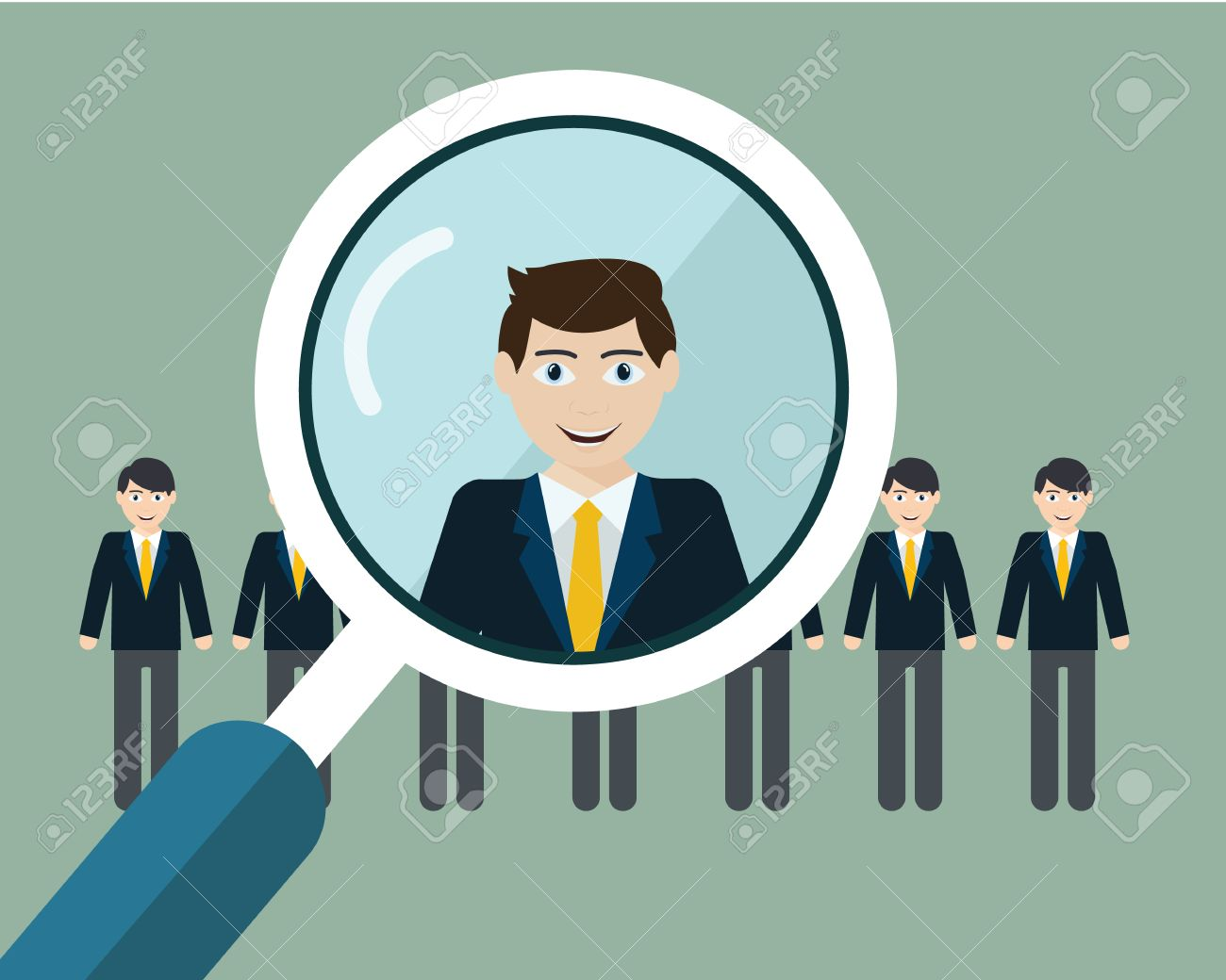 vector illustration of finding professional staff magnifying vector vector illustration of finding professional staff magnifying glass