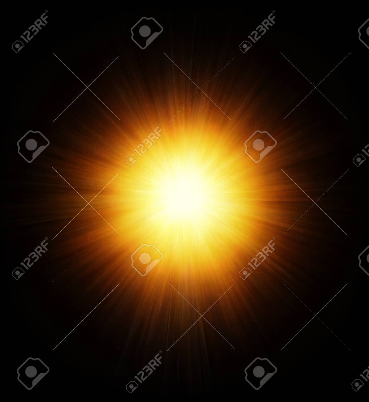 High power explosion isolated on black Stock Photo - 17021910