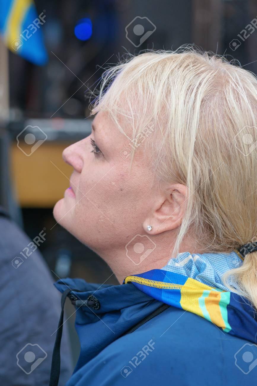 Anette Norberg estocolmo, suecia aug - 21 de, 2016: medallistas olímpicos de río se  celebró en kungstradgarden. el ex medallista de oro en curling, anette  norberg