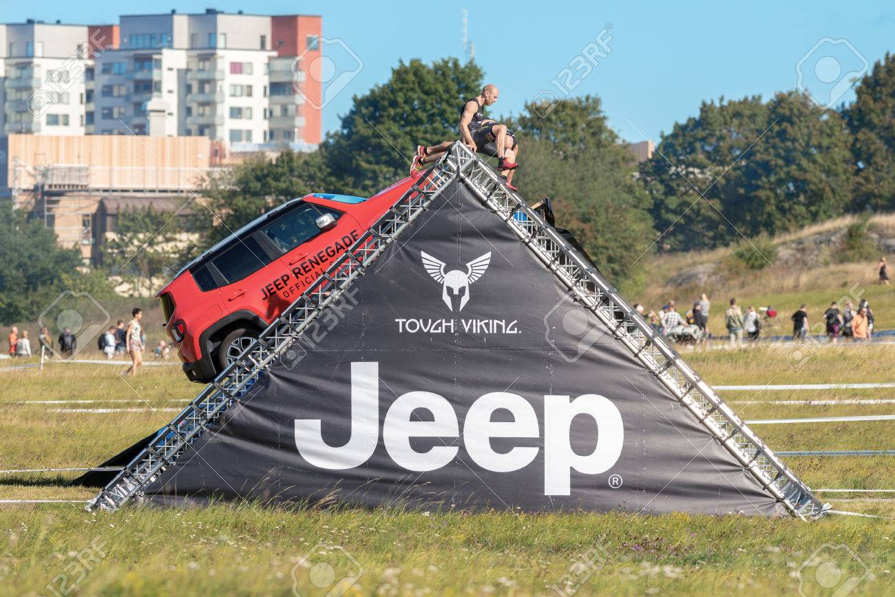 Stockholm Sweden Aug 27 2016 Climbing The Jeep Obstacle Stock Photo Picture And Royalty Free Image Image 64953701