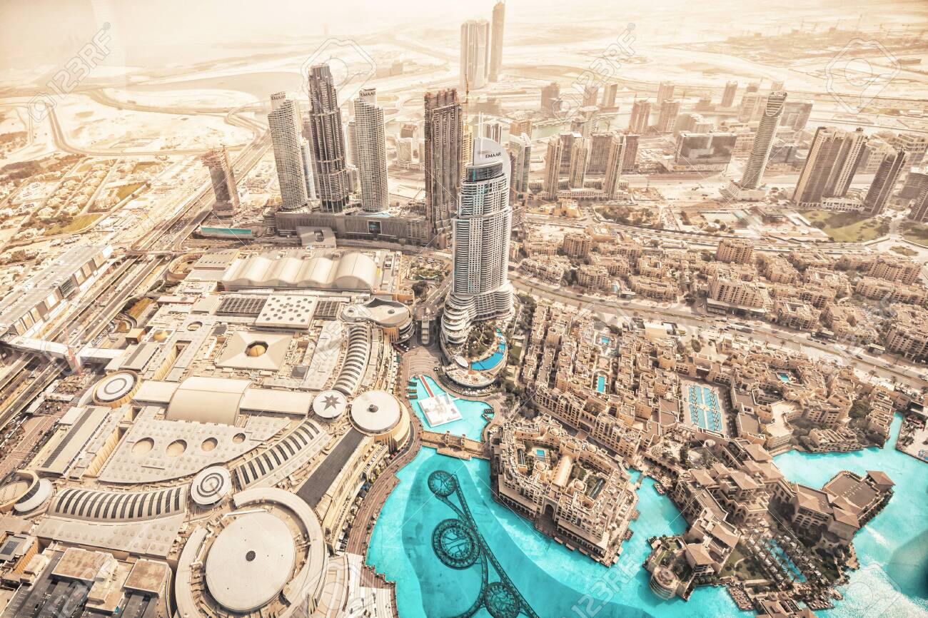 Dubai Uae Jan 23 2019 Overview From The 124th Floor At Burj Stock Photo Picture And Royalty Free Image Image 138559205