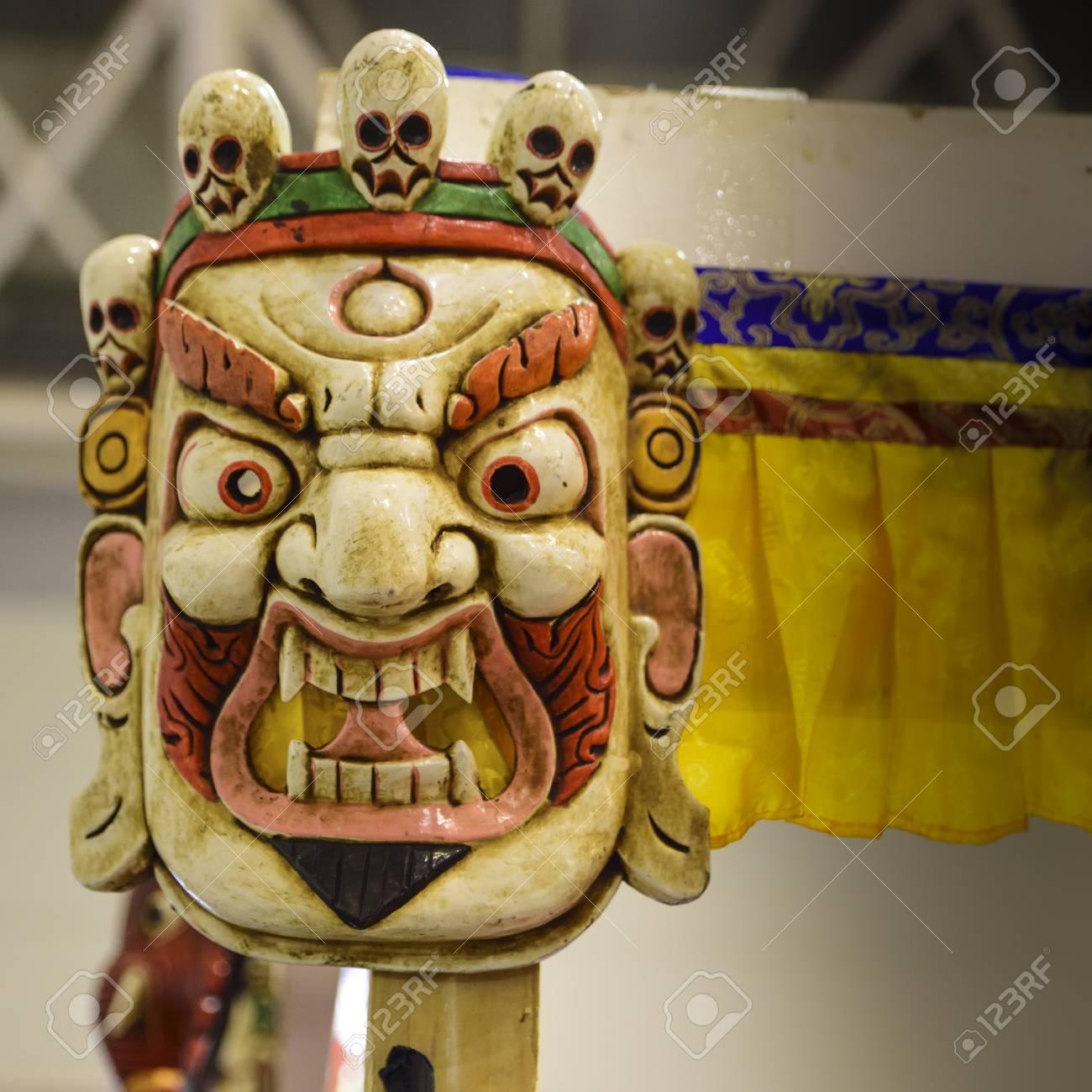 Mask of Mahakala, Hindu and Buddhist deity  its name means