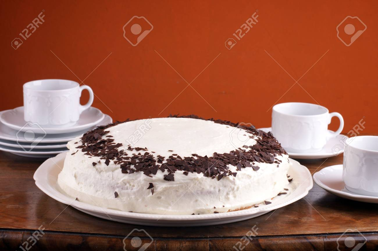 Lovely homemade torte with chocolate chip for special occasion Stock Photo - 4845309