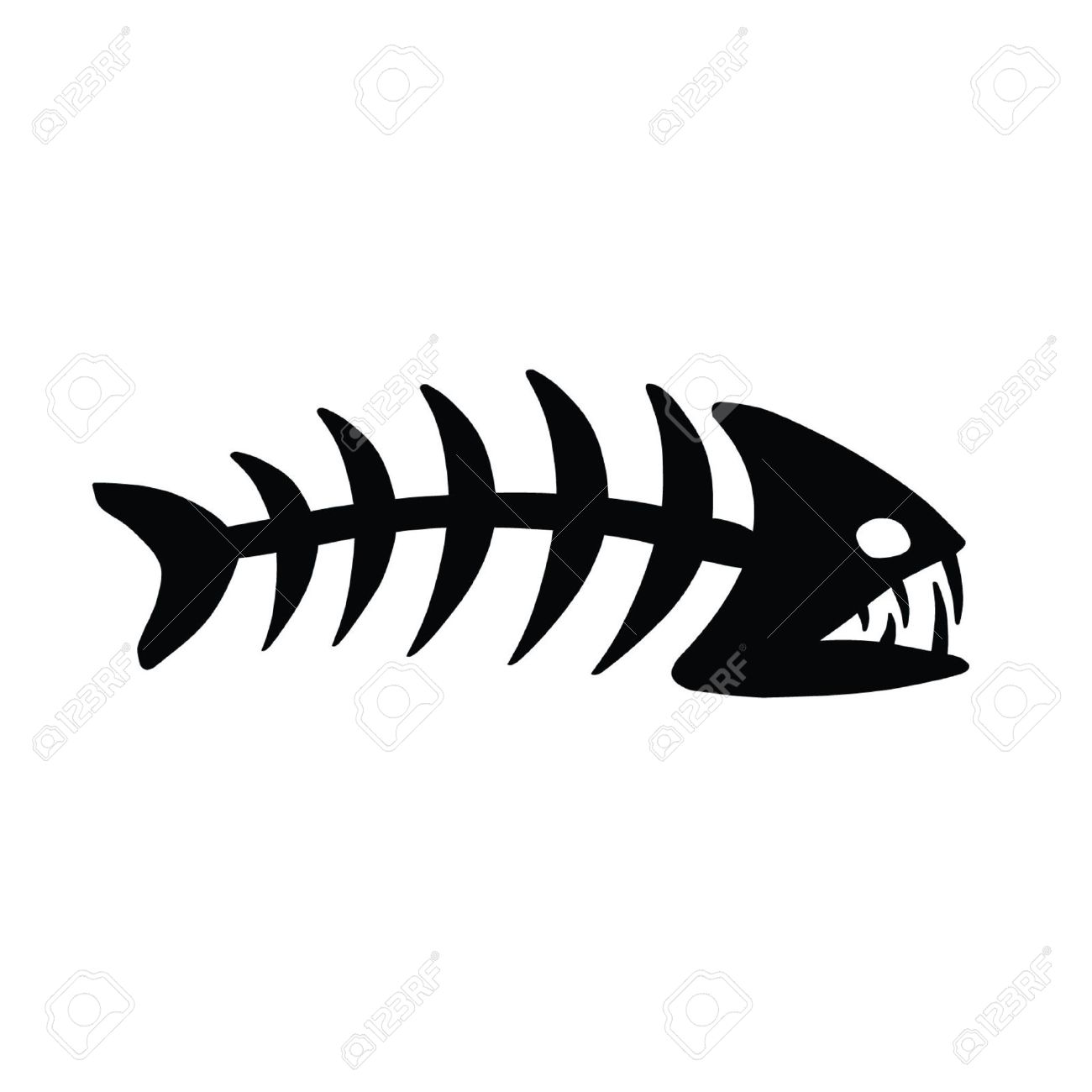 Fish Bones Drawing Fish Bone Skeleton