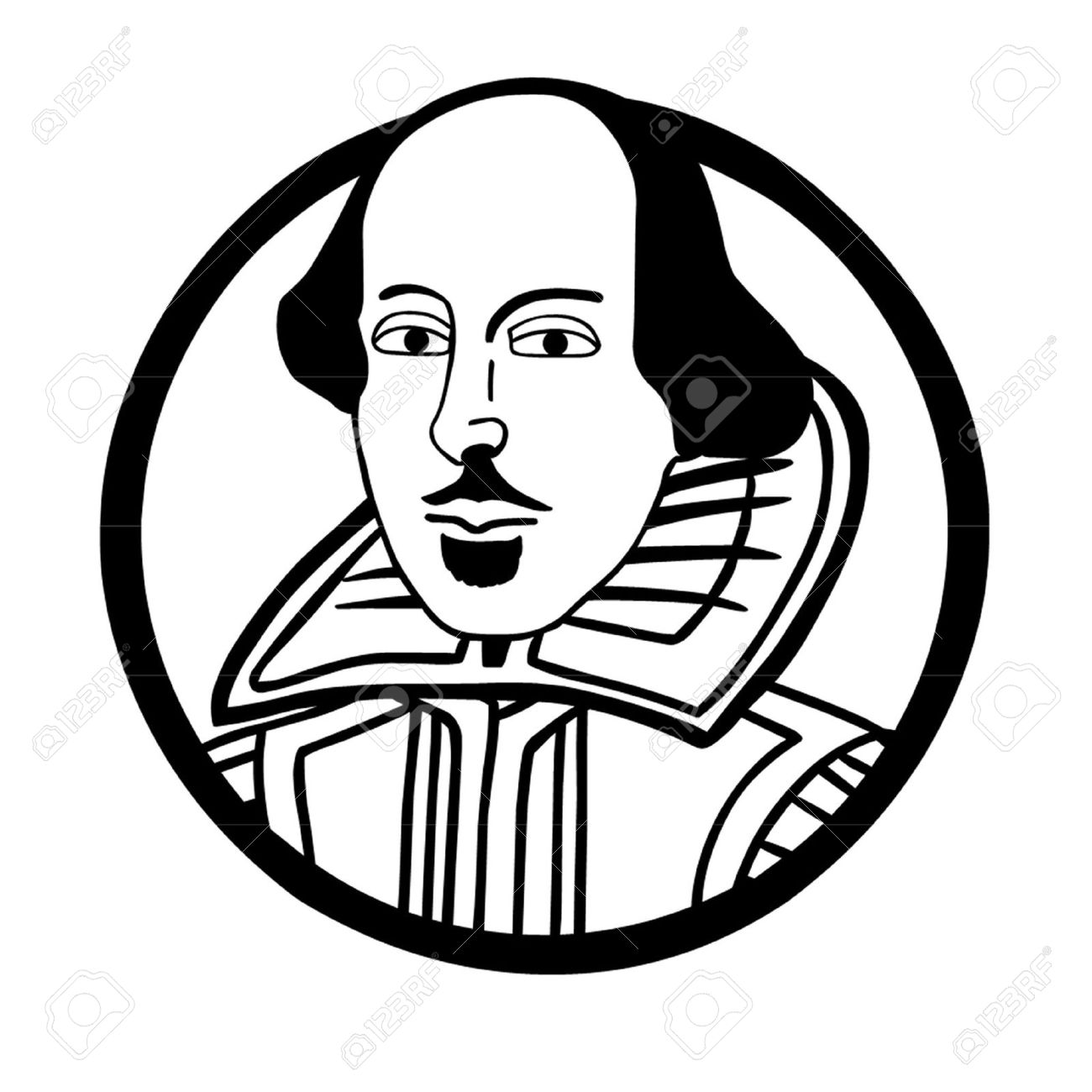 william shakespeare royalty free cliparts vectors and stock rh 123rf com shakespeare clipart free Shakespeare Drawing