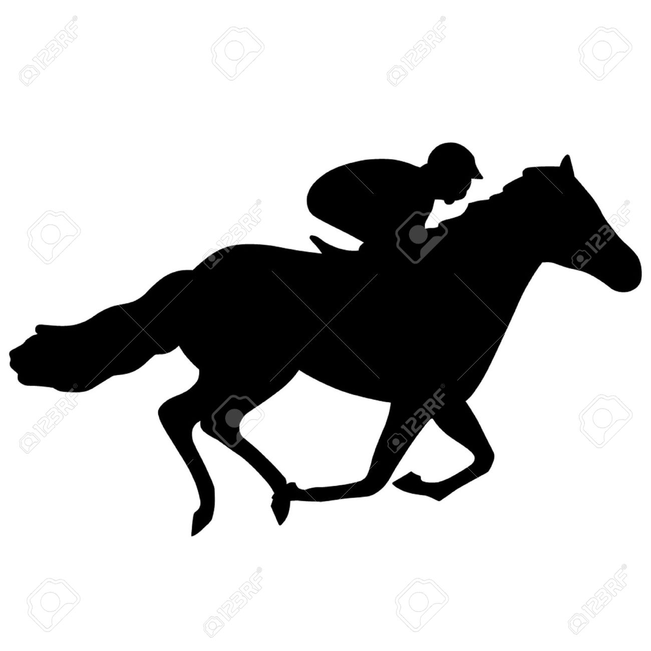 race horse royalty free cliparts vectors and stock illustration rh 123rf com running horse silhouette clip art free