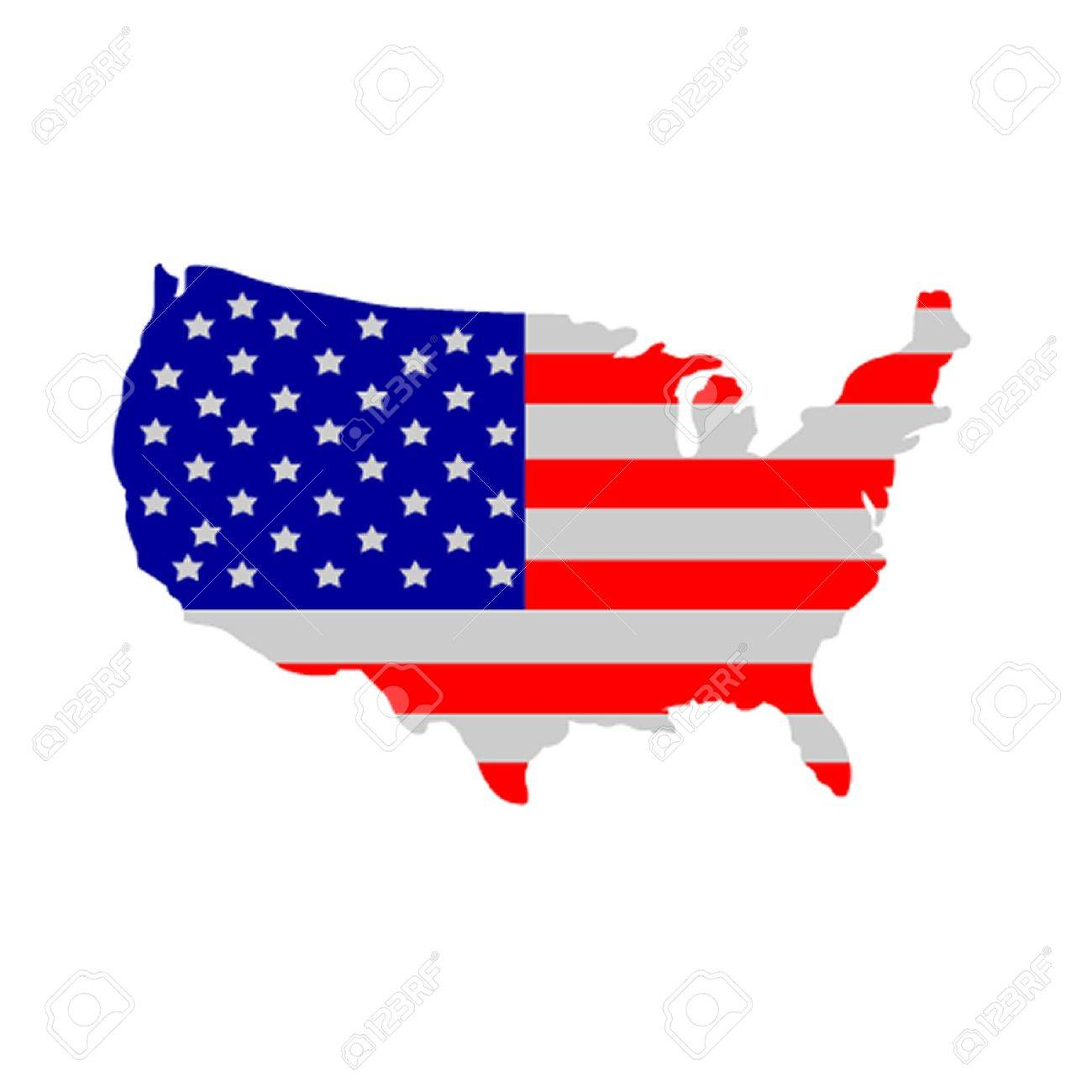United States Of America Flag Royalty Free Cliparts, Vectors, And ...