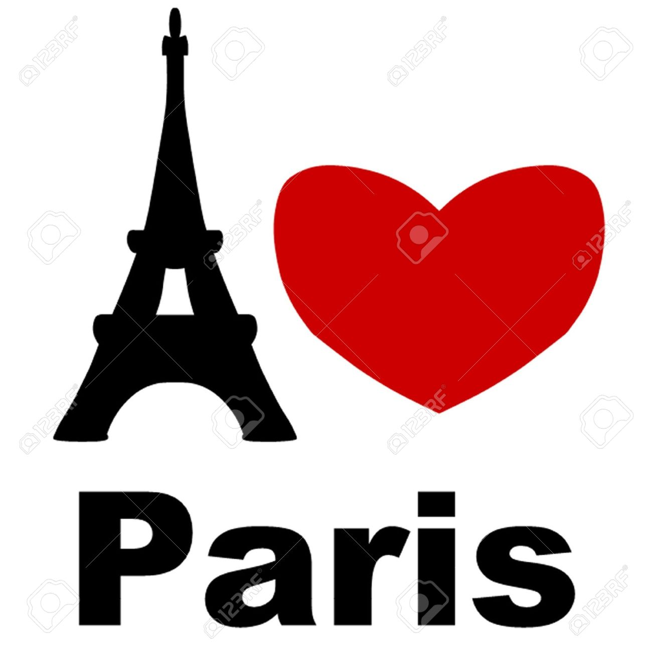 I Love Paris Stock Vector - 15357311