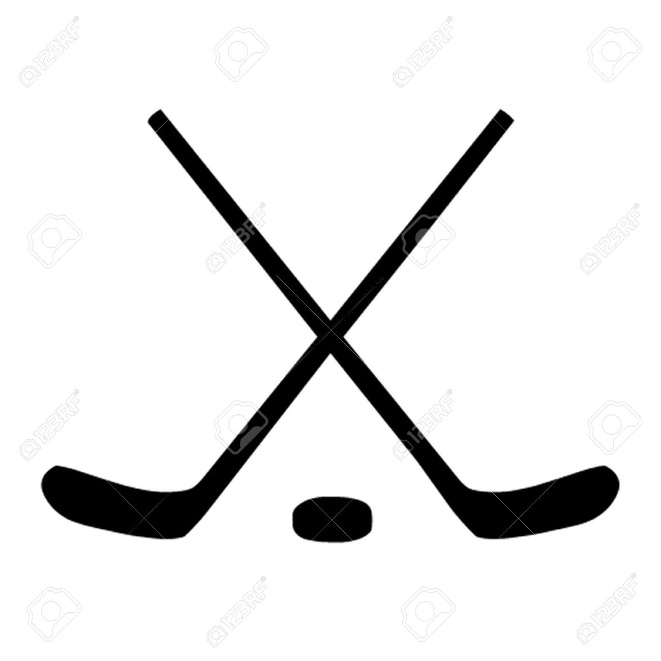 ice hockey sticks and puck royalty free cliparts vectors and stock rh 123rf com hockey stick clipart hockey sticks clipart free