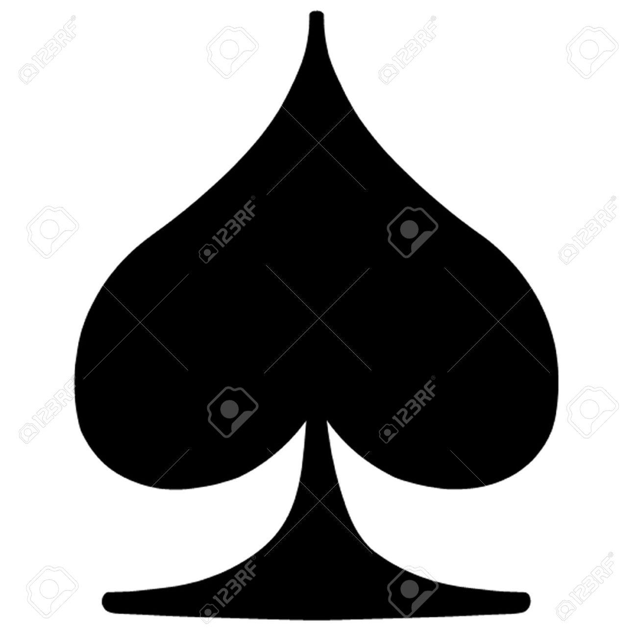 spade card sign  Poker Card Suit Spade