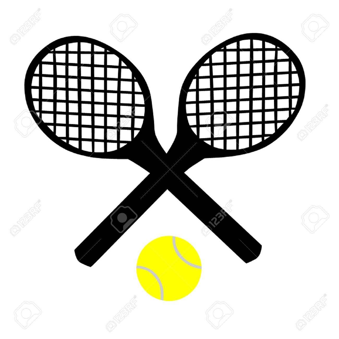 Tennis Rackets and Tennis Ball Stock Vector - 17531387