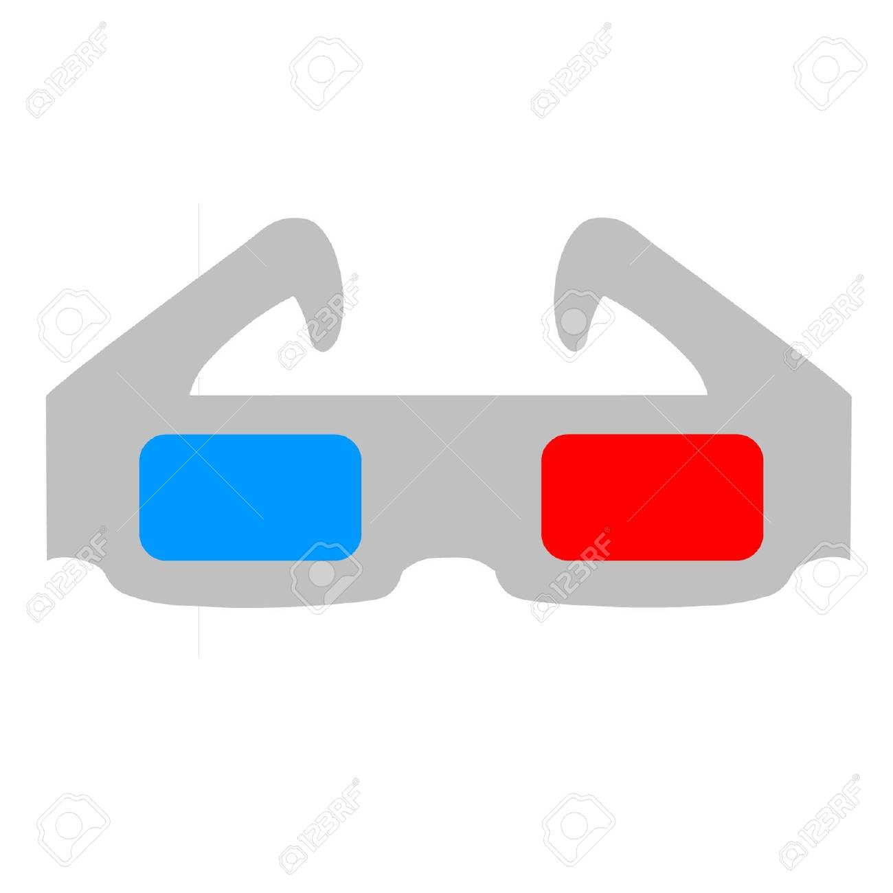 3D Glasses Stock Vector - 17689788