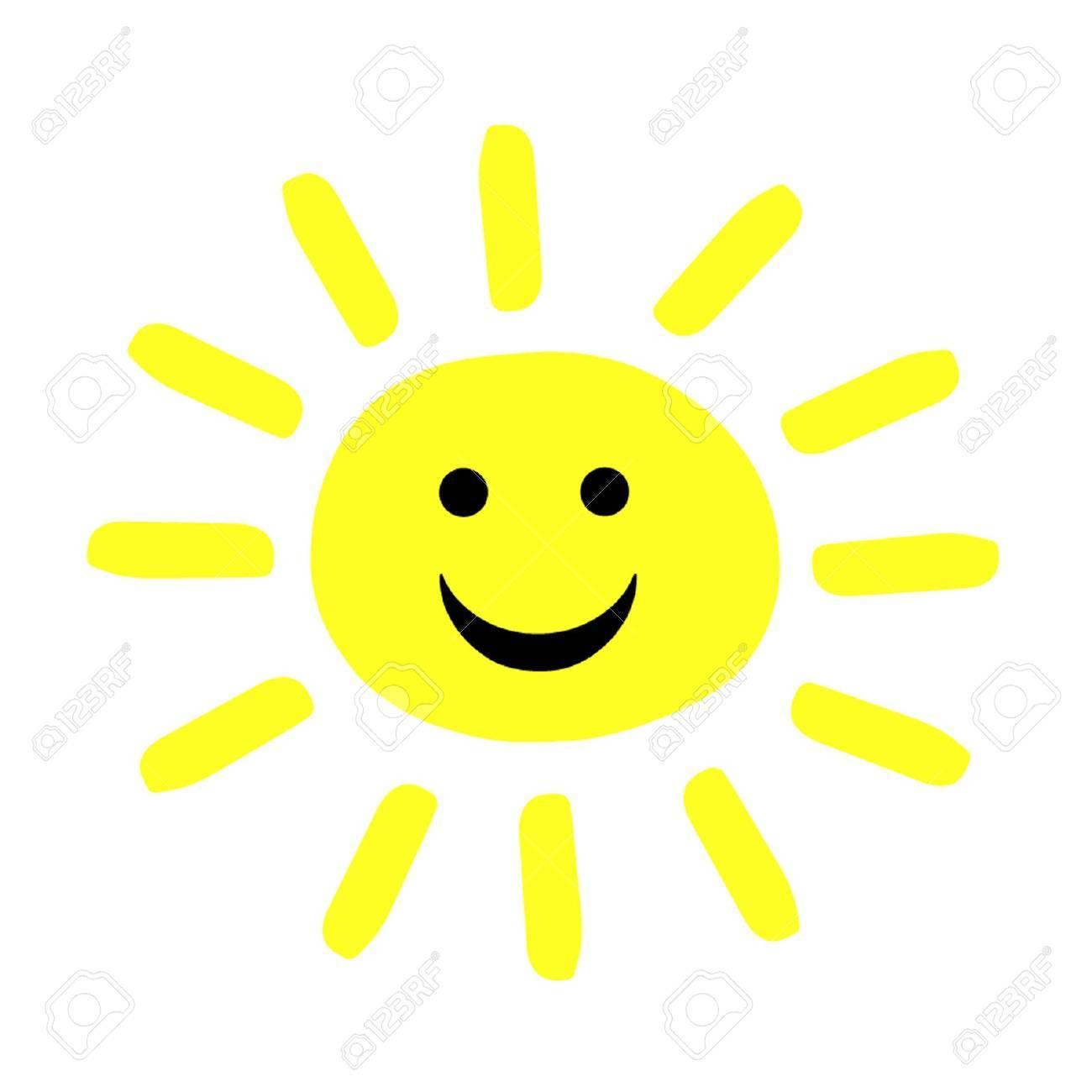 Smiling Summer Sun Stock Vector - 18390246
