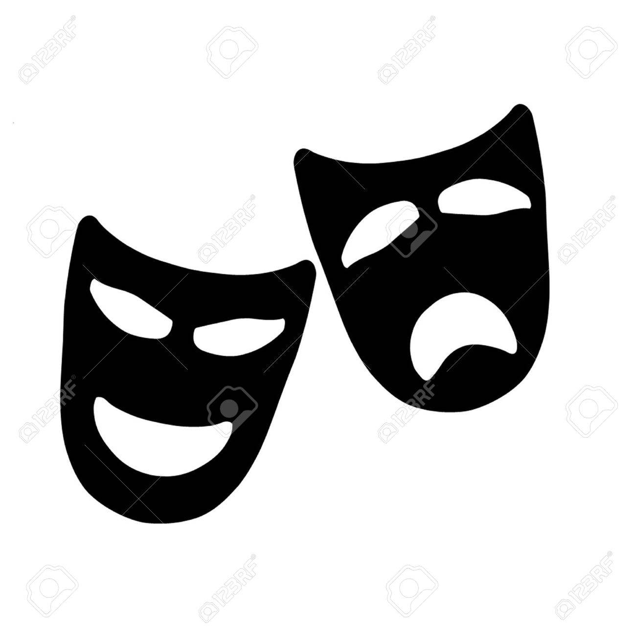 Tragedy and Comedy Theater Masks - 19846989