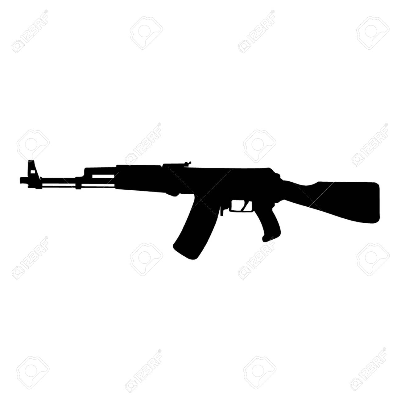 ak 47 assault rifle kalashnikov royalty free cliparts vectors and rh 123rf com ak 47 vector png ak 47 vector