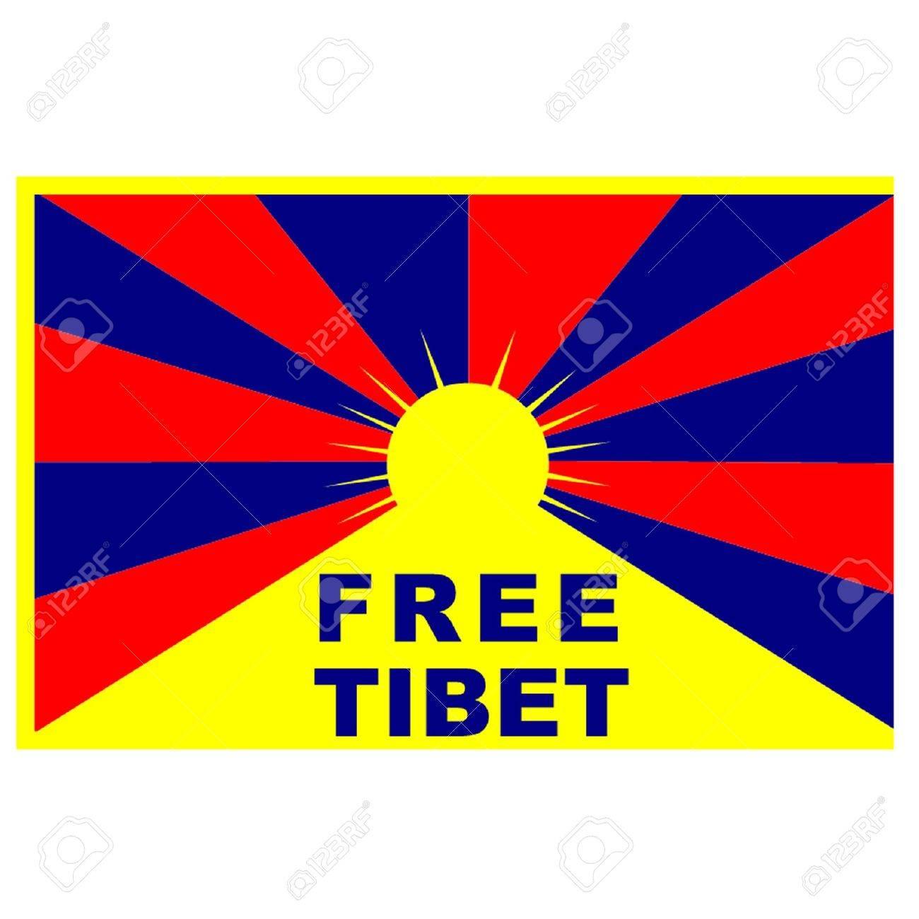Free Tibet Flag Stock Vector - 21937371
