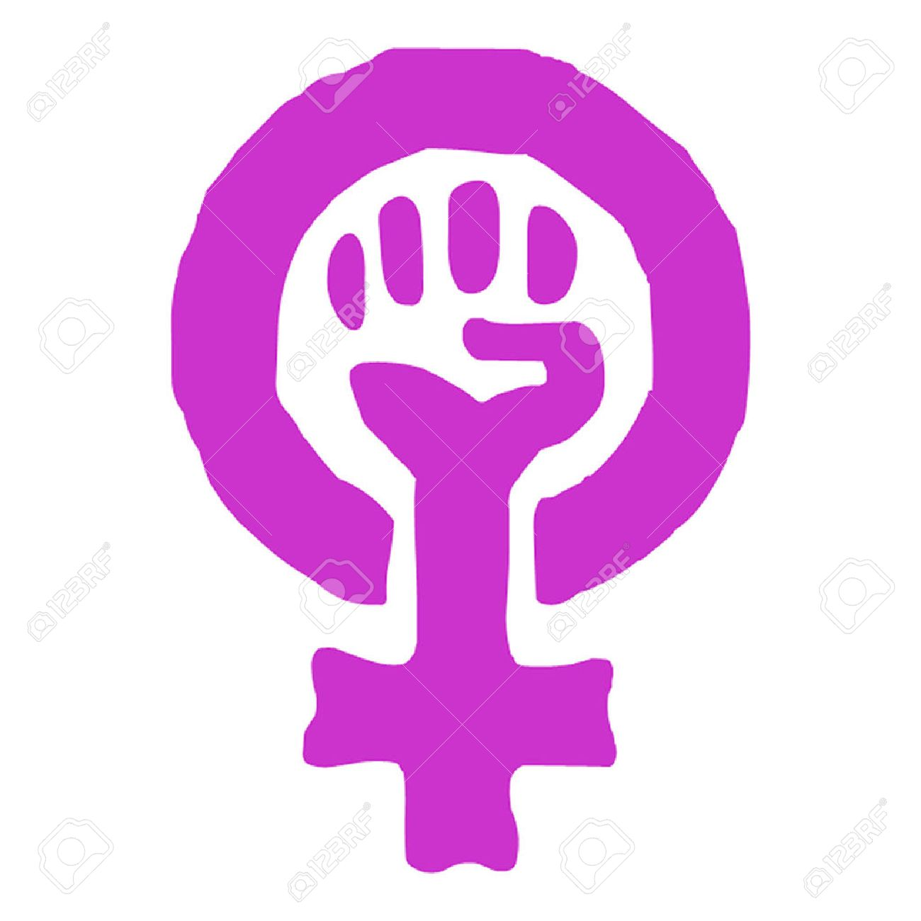 Feminism Woman Power Symbol  Feminist Symbol