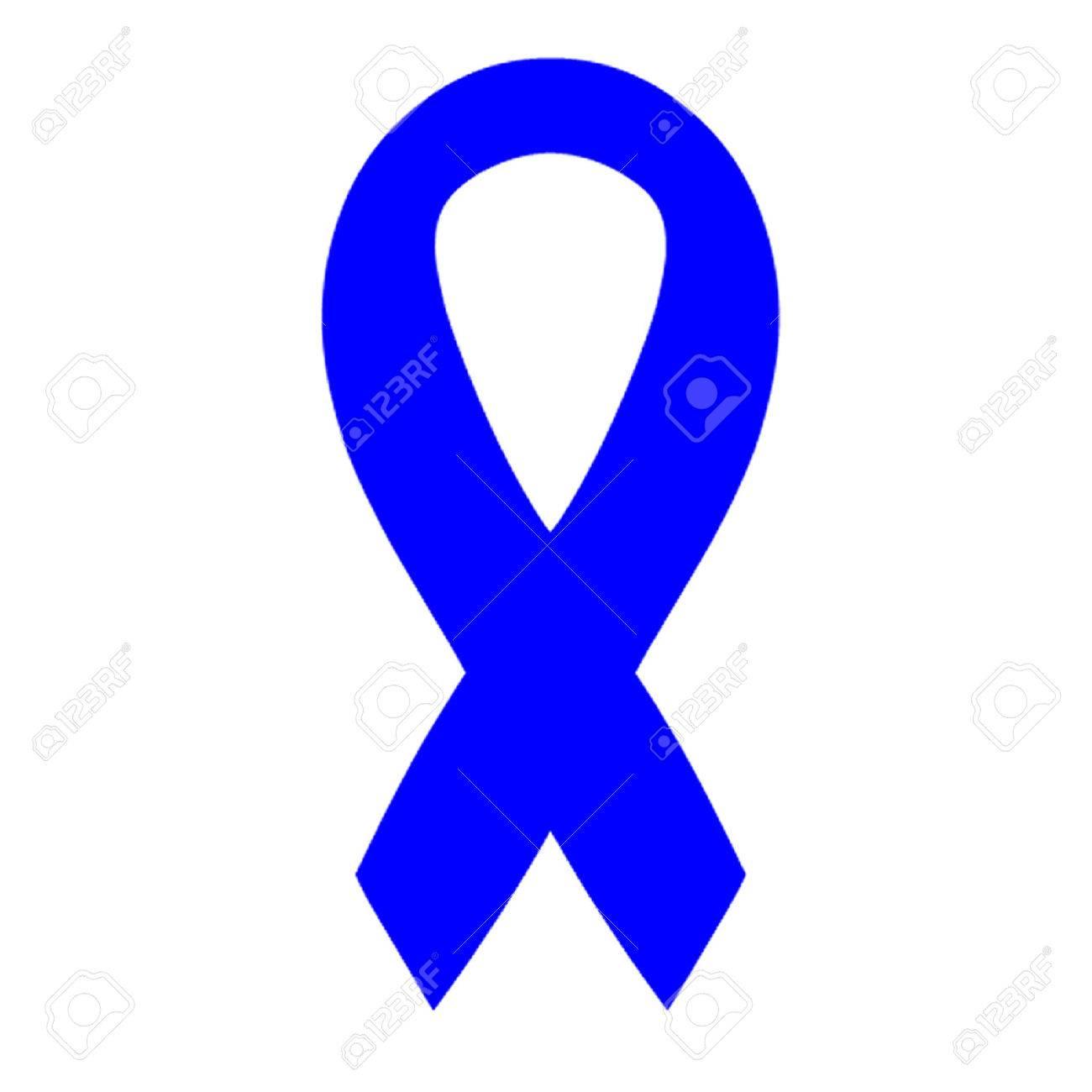 Blue Awareness Ribbon Stock Vector - 27372047