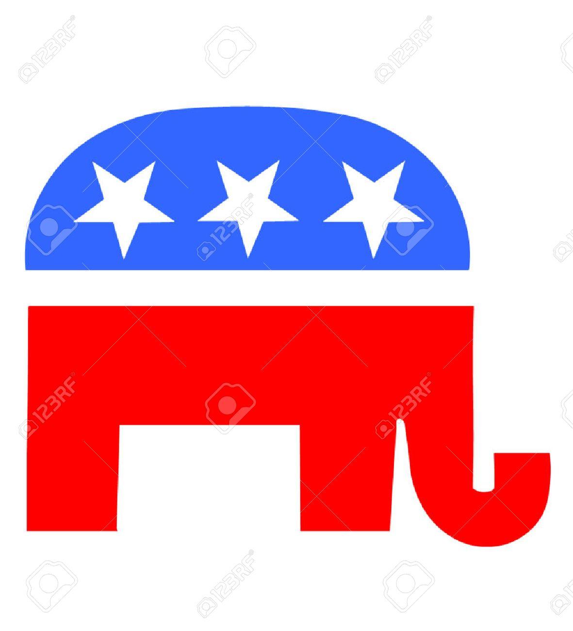 Republican Elephant Outline