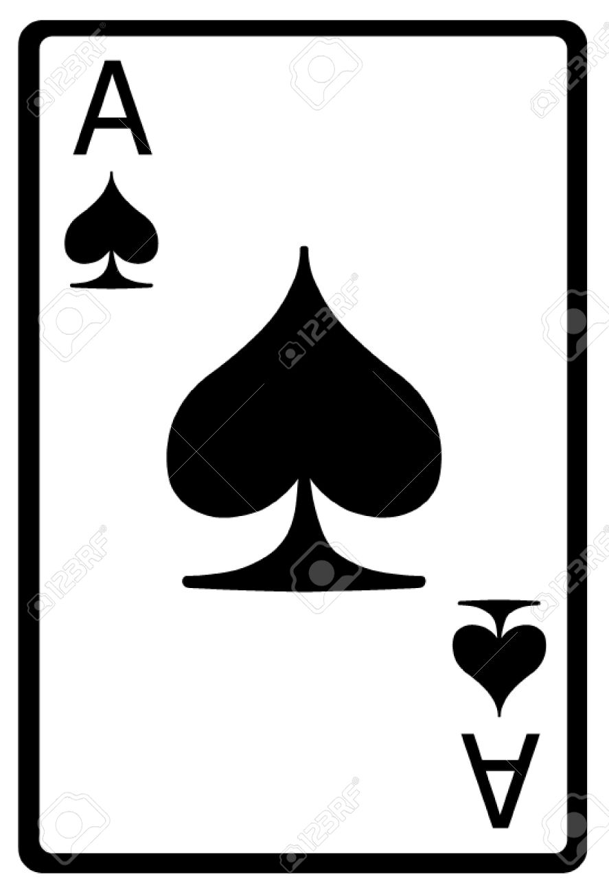 Ace Of Spades Playing Card Royalty Free Cliparts Vectors And Stock