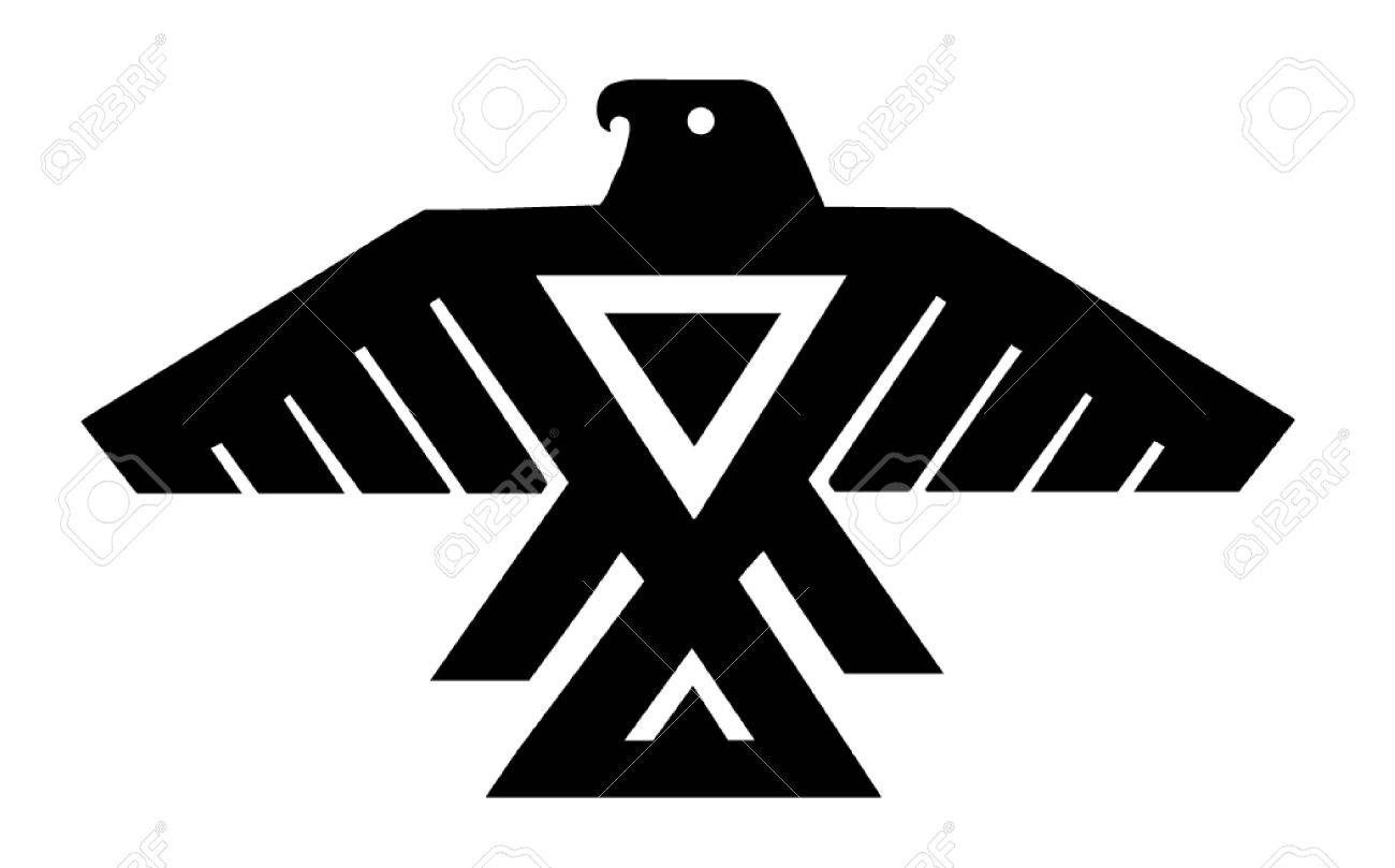 American Indian Thunderbird Totem Royalty Free Cliparts Vectors