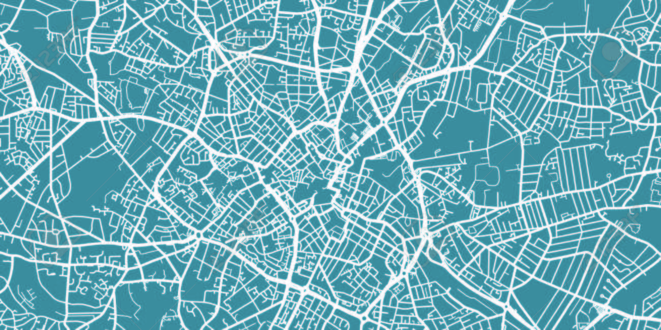 Map Of Uk Birmingham.Detailed Vector Map Of Birmingham Scale 1 30 000 Uk Royalty Free