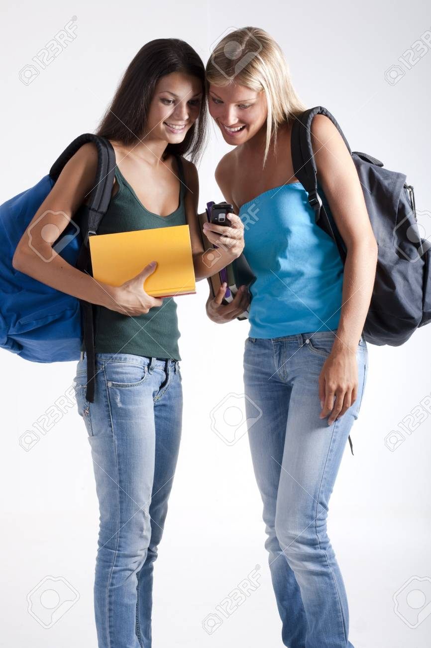 Happy students ready for school Stock Photo - 7801453
