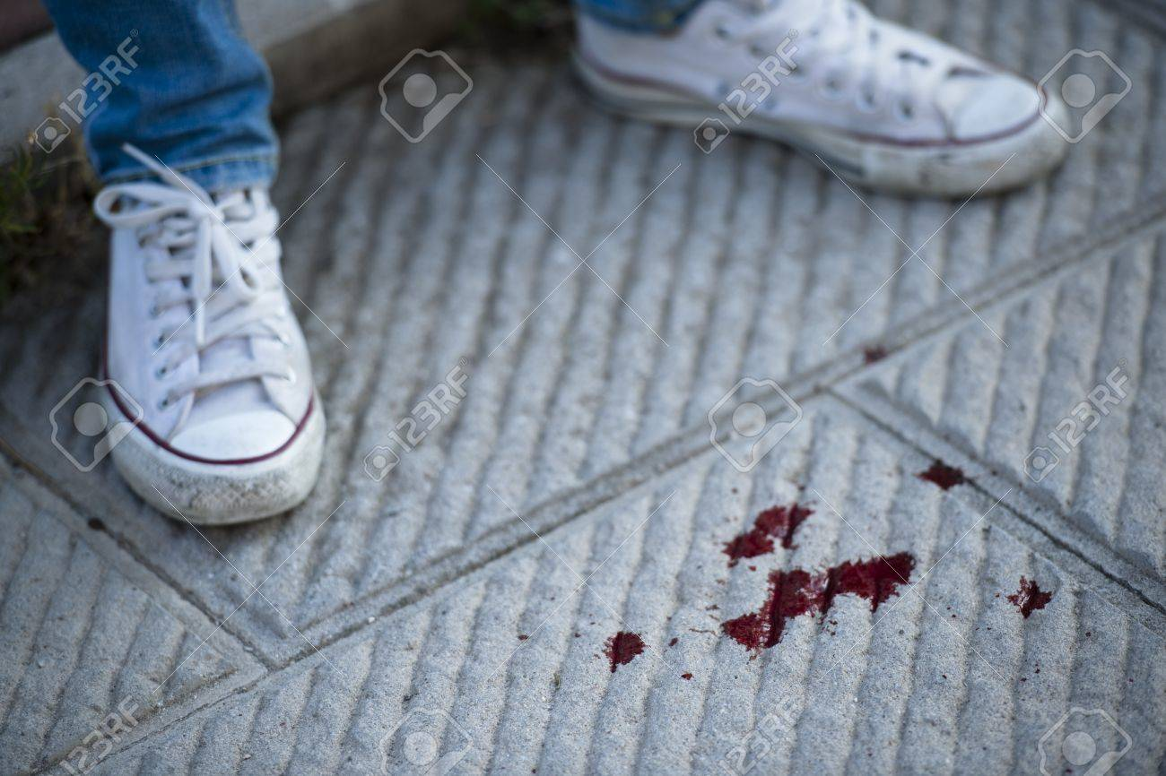 Teenage Girl Shoes, Blood On The
