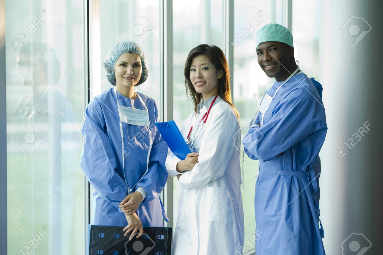 Multi-ethnic medical team Stock Photo - 8180373