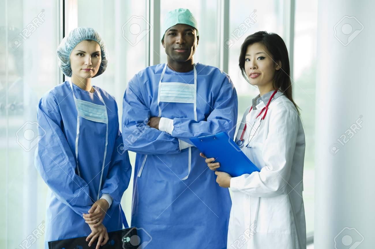 Multi-ethnic medical team Stock Photo - 8180372