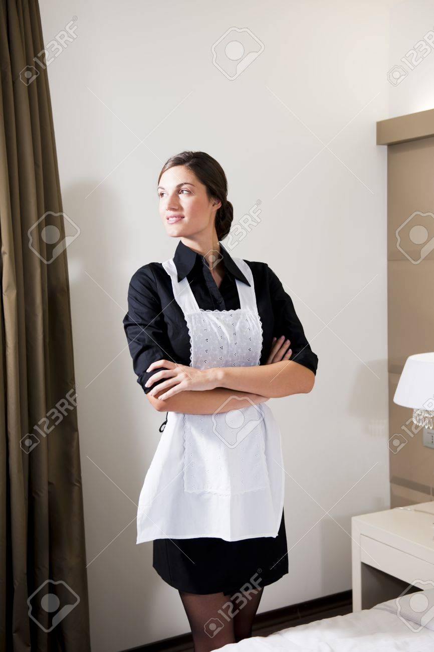 Portrait Of A Hotel Maid Stock Photo - 9260270
