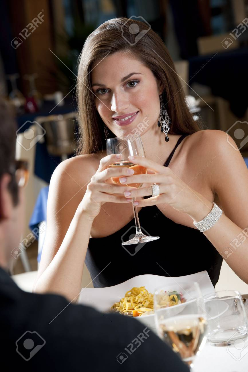 Elegant Couple at The Restaurant Stock Photo - 9319572