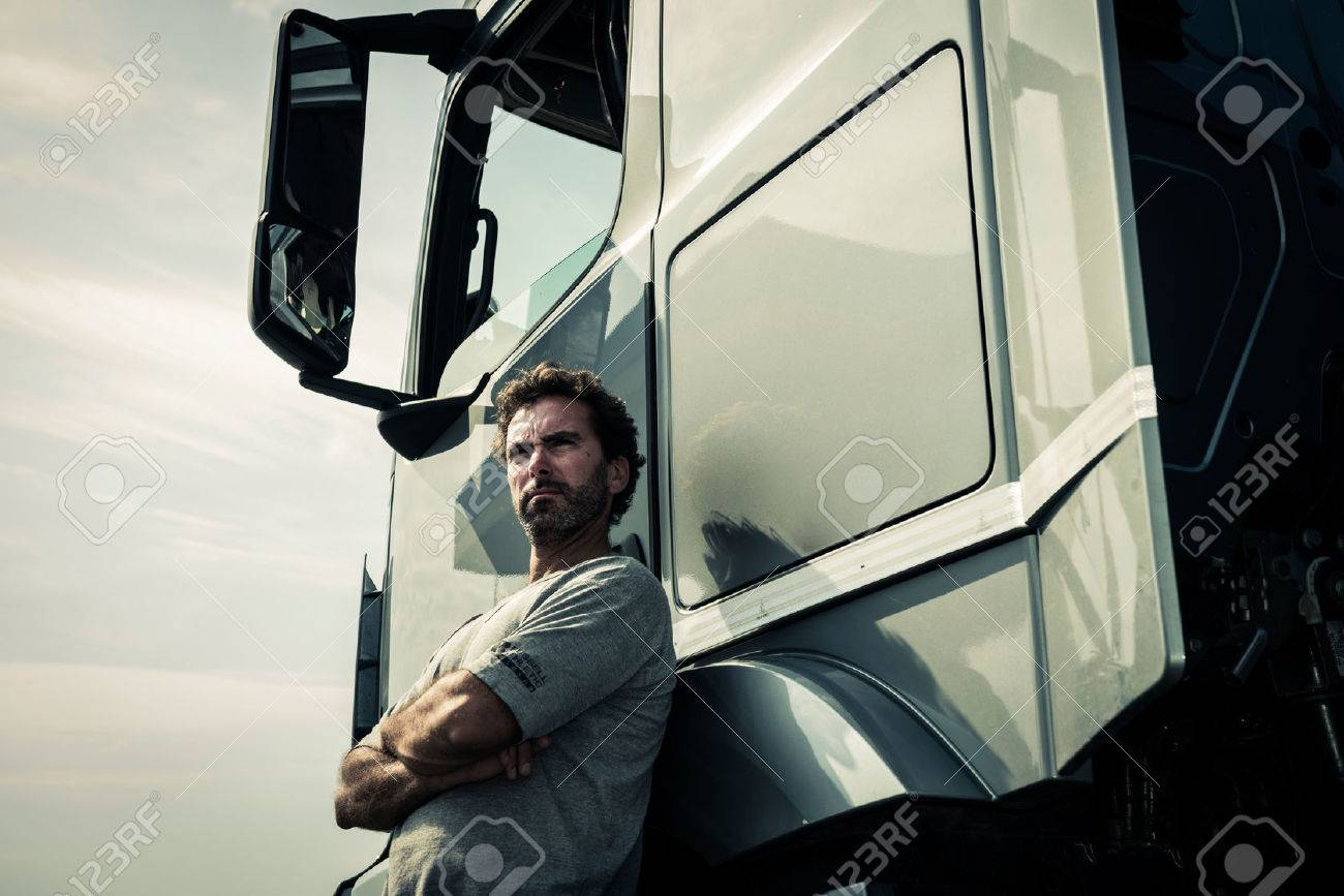 Portrait of a truck driver - 34005171